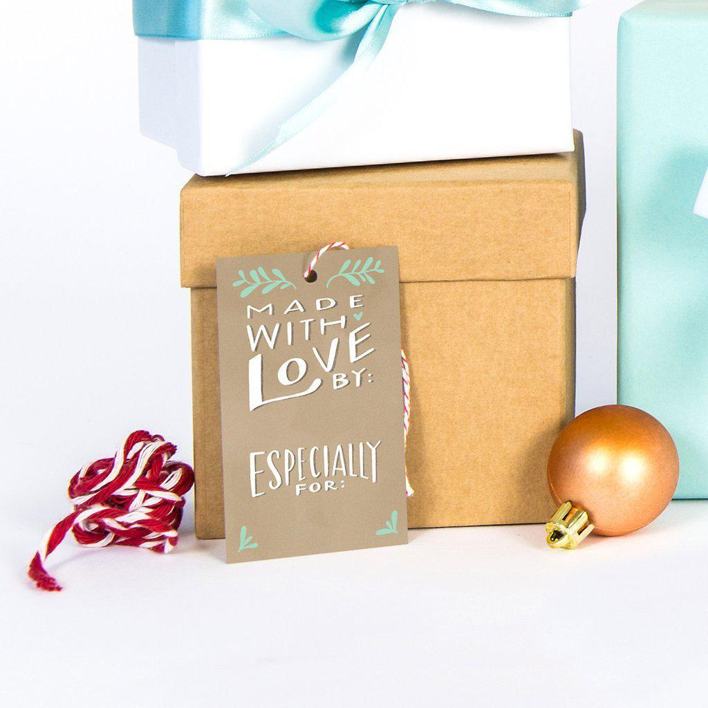 Made with Love Gift Tag-Palm & Pine