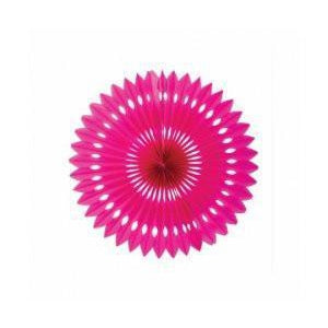 Magenta Honeycomb Fan (24cm)-Palm & Pine Party Co.