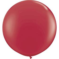 Jumbo Round Maroon Balloon, Inflated-Palm & Pine