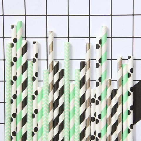Memphis Mint Paper Straw-Palm & Pine Party Co.