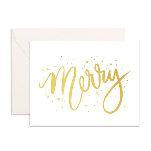 Merry Greeting Card-Palm & Pine Party Co.