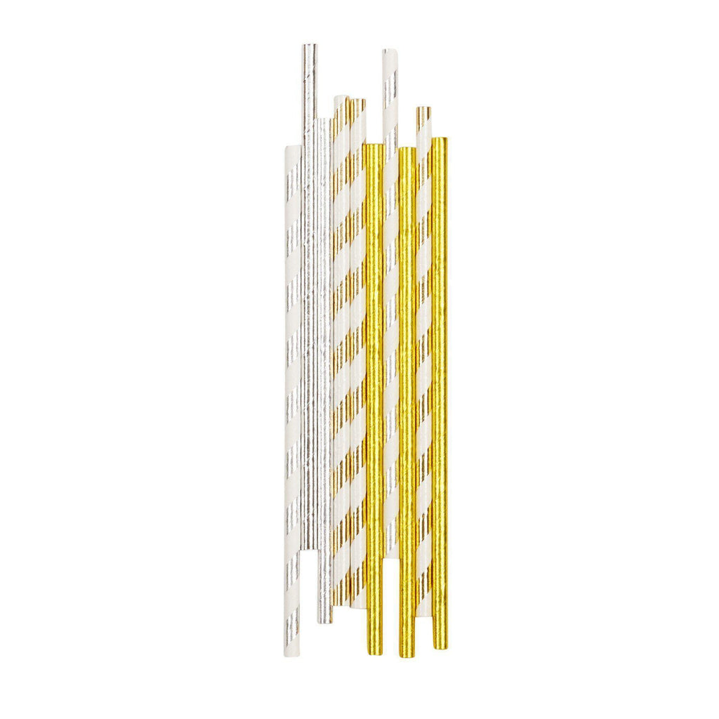 Metallic Paper Party Straws-Palm & Pine Party Co.