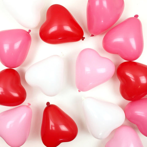 Mini Heart Balloons (Assorted Colours)-Palm & Pine Party Co.