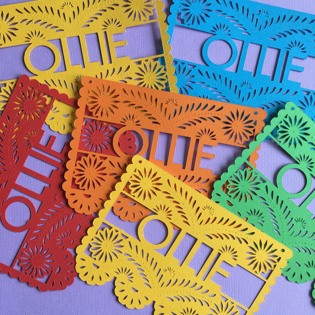 Mini Papel Picado (custom)-Palm & Pine Party Co.