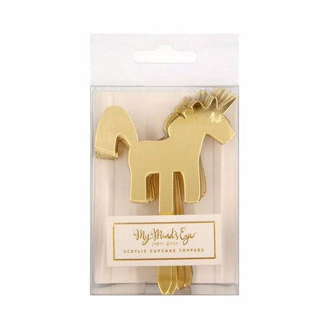 Mini Unicorn Party Picks-Palm & Pine Party Co.