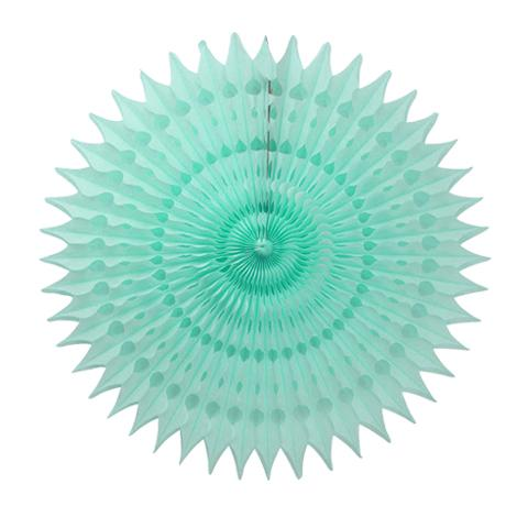 Mint Honeycomb Fan (40cm)-Palm & Pine Party Co.