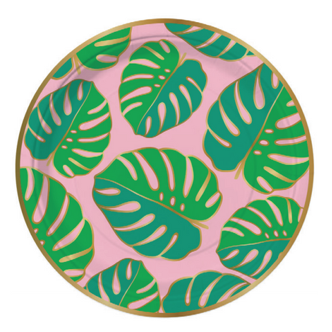 Monstera Leaf Paper Plates-Palm & Pine Party Co.