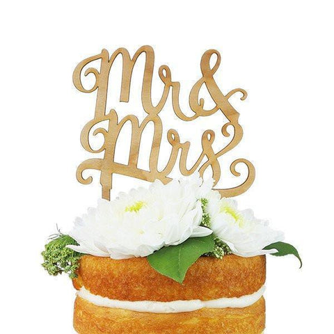 Mr. & Mrs. Cake Topper-Palm & Pine Party Co.