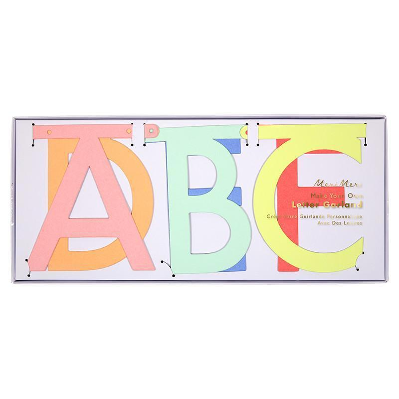 Multicoloured Letter Garland Kit-Palm & Pine Party Co.