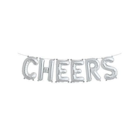 "Mylar 40cm ""Cheers"" Balloon Banner-Palm & Pine Party Co."