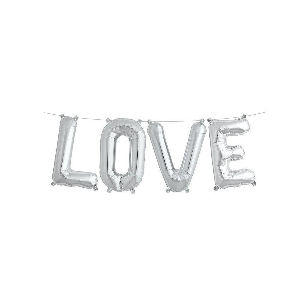 "Mylar 40cm ""Love"" Balloon Banner-Palm & Pine Party Co."