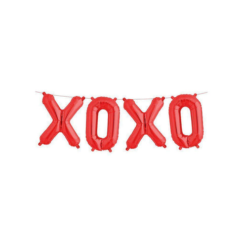 "Mylar 40cm ""XOXO"" Balloon Banner-Palm & Pine Party Co."