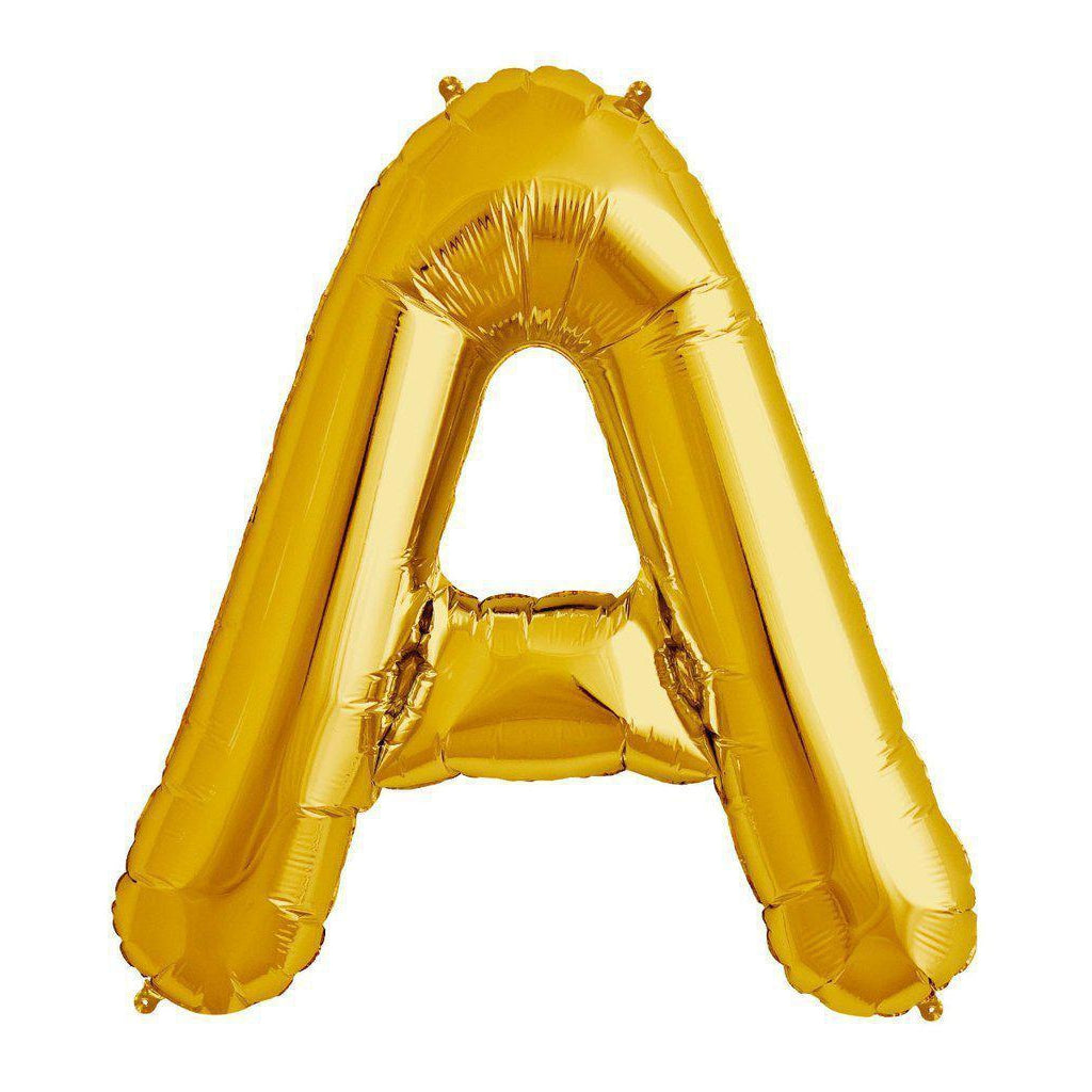 Mylar 86cm Letter Balloon (gold)-Palm & Pine Party Co.