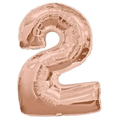 Mylar 86cm Number Balloon (rose gold)-Palm & Pine Party Co.