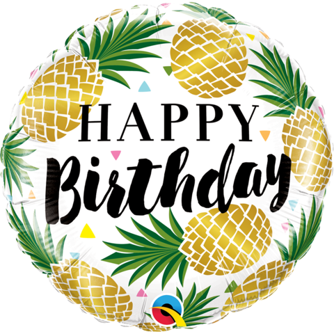 Mylar Birthday Pineapple Balloon-Palm & Pine Party Co.