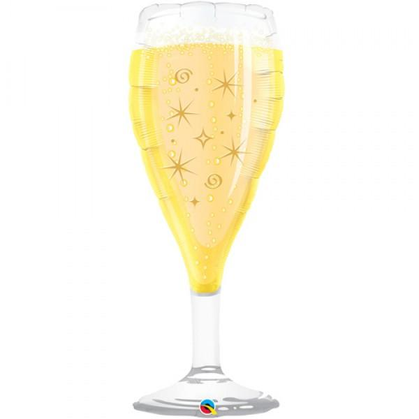 Mylar Champagne Glass Balloon-Palm & Pine Party Co.