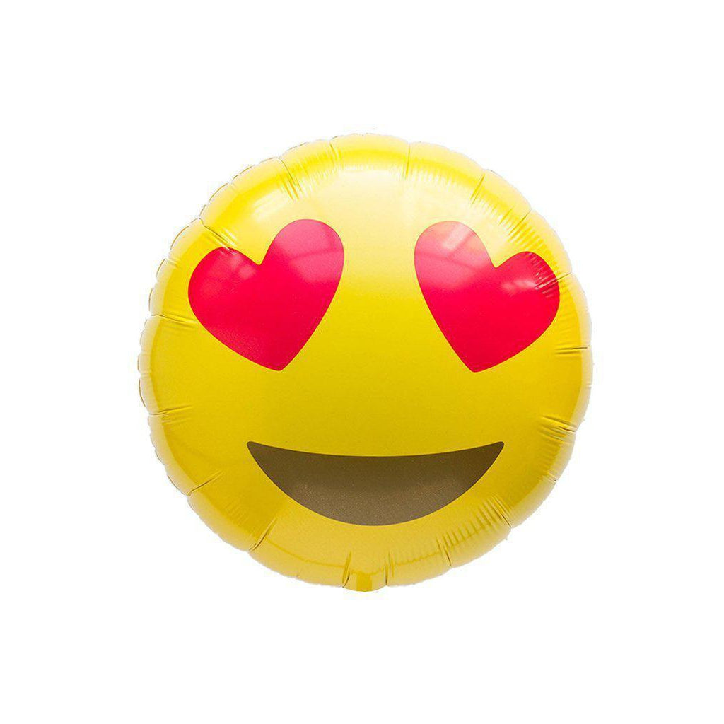 Mylar Emoji Heart Eyes Balloon-Palm & Pine Party Co.