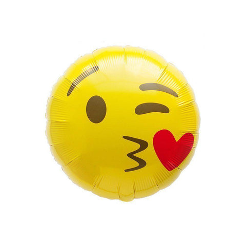 Mylar Emoji Kiss Balloon-Palm & Pine Party Co.