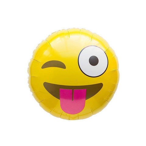 Mylar Emoji Wink Balloon-Palm & Pine Party Co.