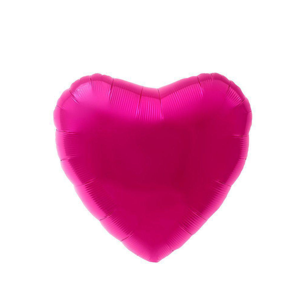 Mylar Heart Balloon (Magenta)-Palm & Pine Party Co.