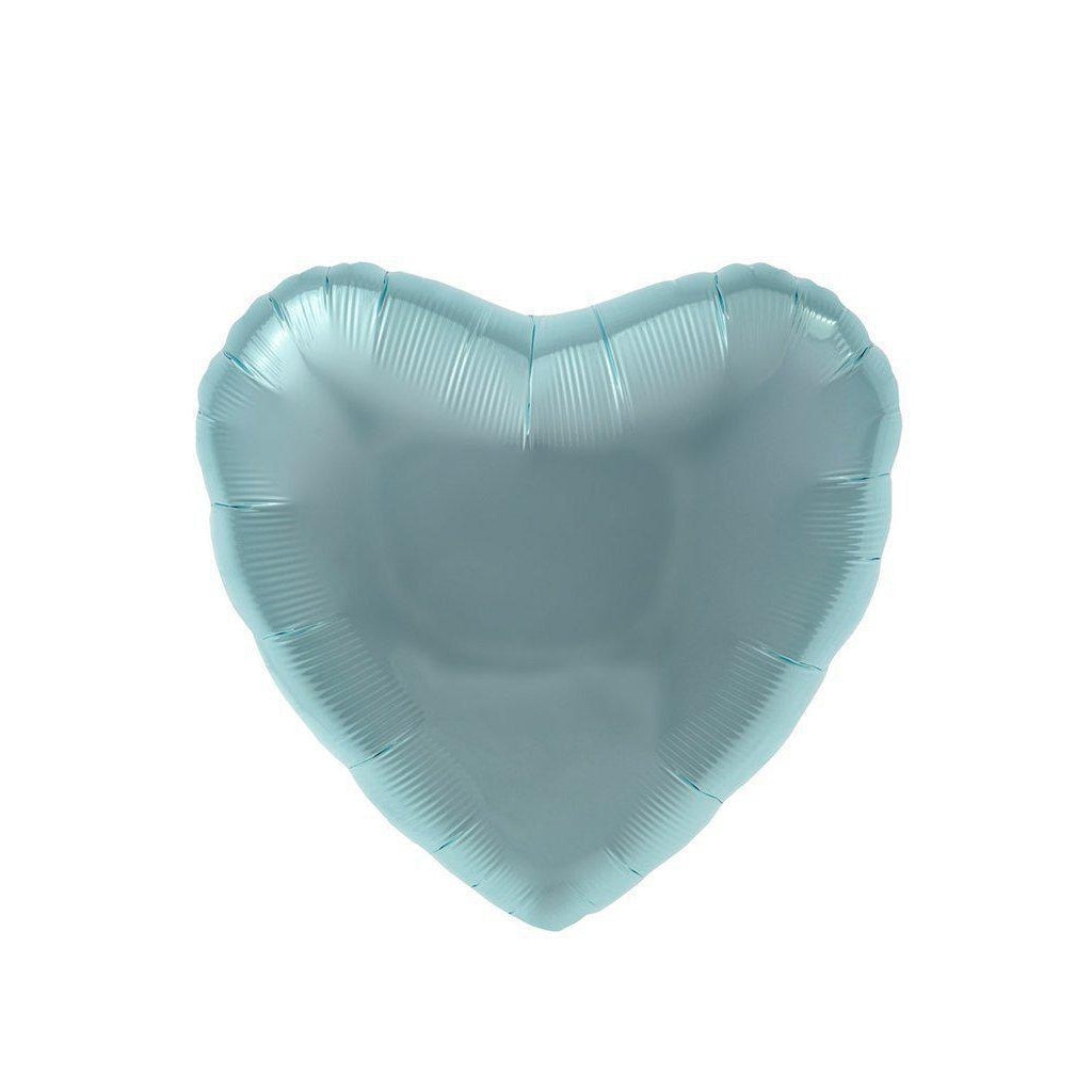 Mylar Heart Balloon (Pastel Blue)-Palm & Pine Party Co.