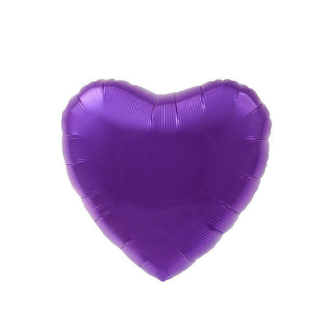Mylar Heart Balloon (Purple)-Palm & Pine Party Co.