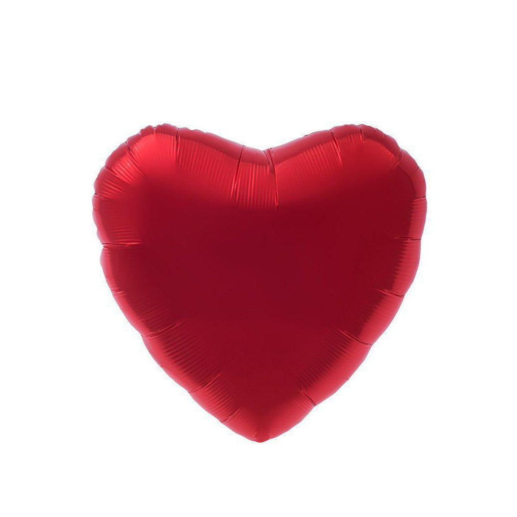 Mylar Heart Balloon (Red)-Palm & Pine Party Co.