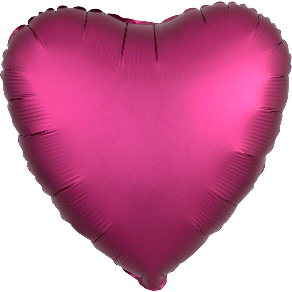 Mylar Heart Balloon Satin (Pomegranate)-Palm & Pine Party Co.