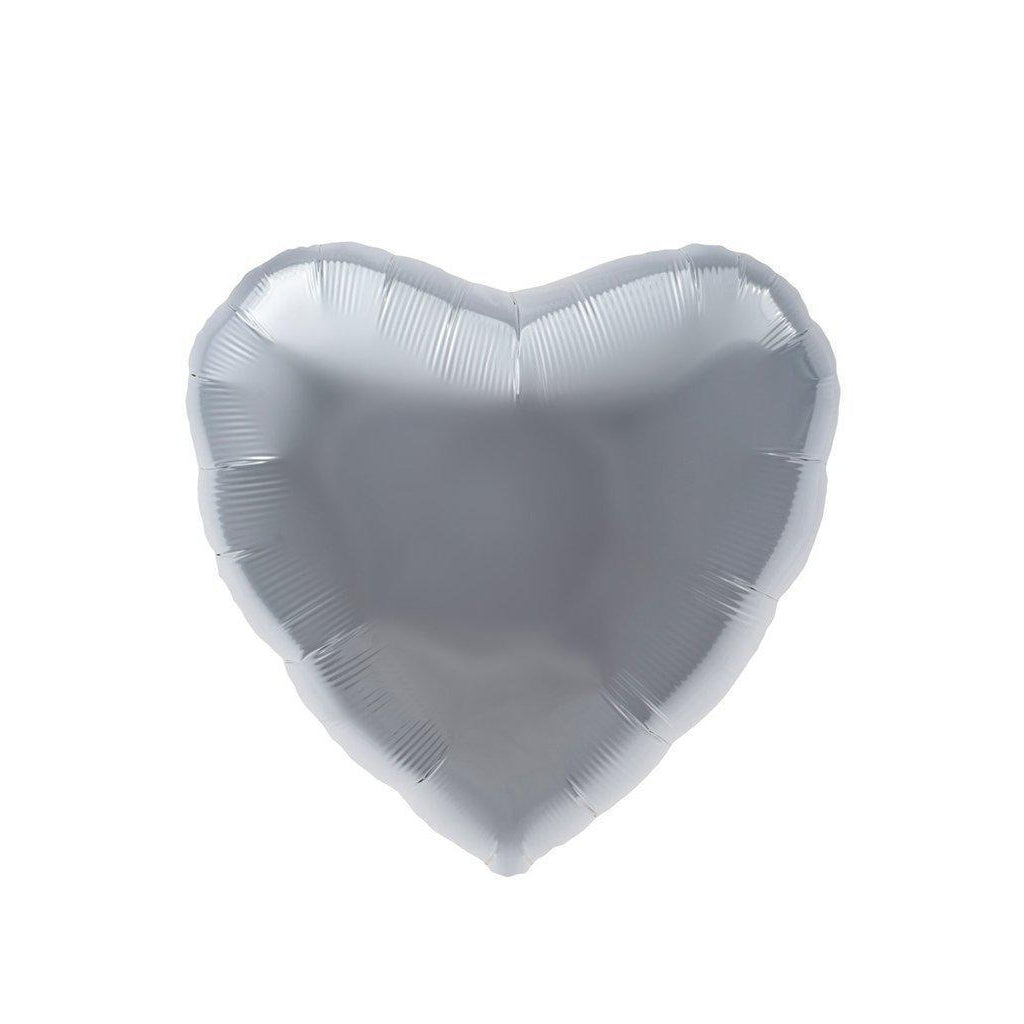 Mylar Heart Balloon (Silver)-Palm & Pine Party Co.