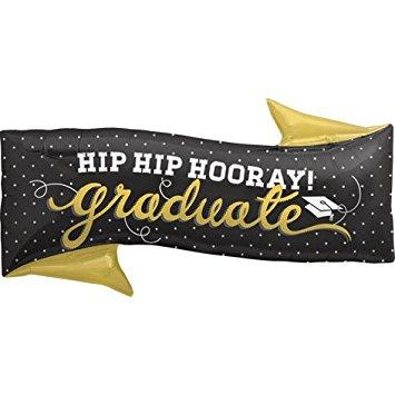 Mylar Hip Hip Hooray Graduate Balloon-Palm & Pine Party Co.