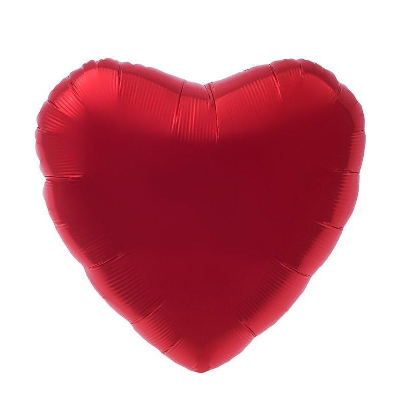 Mylar Jumbo Heart Balloon (Red)-Palm & Pine Party Co.