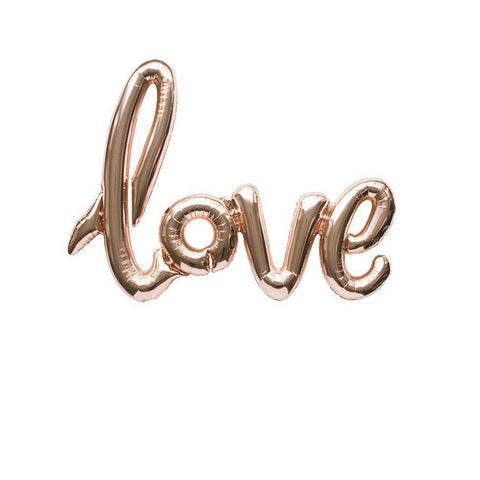 "Mylar Script Balloon ""Love"" (Assorted Colours)-Palm & Pine Party Co."