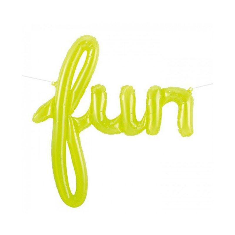 "Mylar Script ""Fun""-Palm & Pine Party Co."