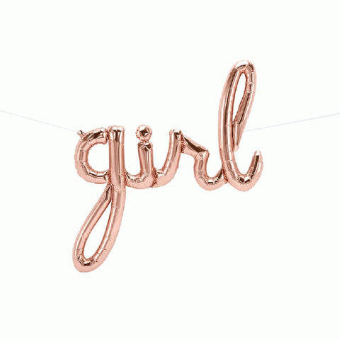 "Mylar Script ""girl""-Palm & Pine Party Co."