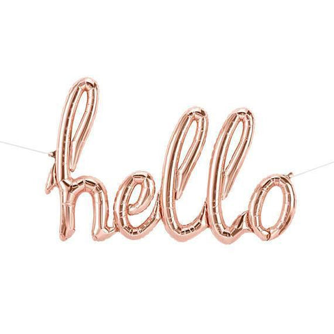 "Mylar Script ""hello""-Palm & Pine Party Co."