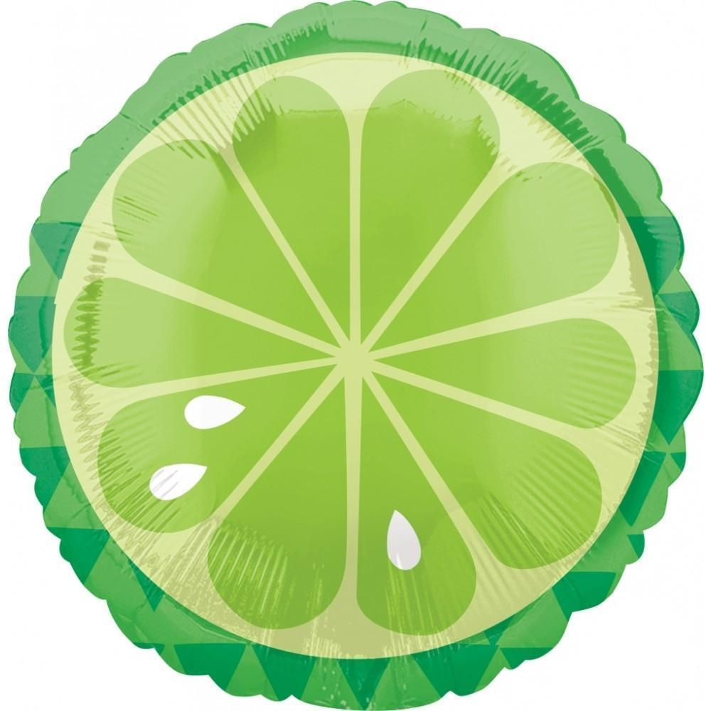 Mylar Tropical Lime Balloon-Palm & Pine Party Co.