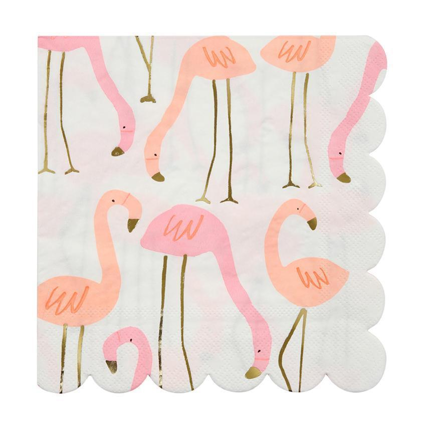 Neon Flamingo Napkins-Palm & Pine