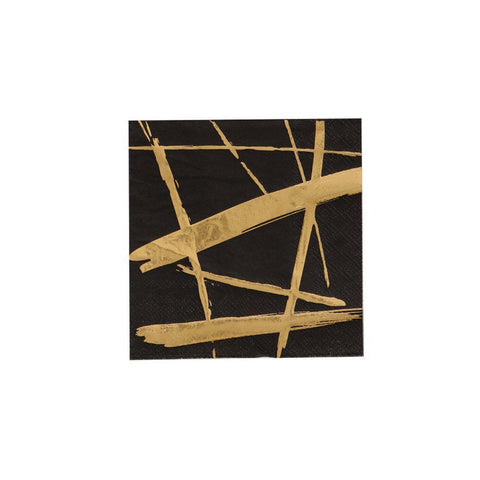 Noir Party Napkins-Palm & Pine