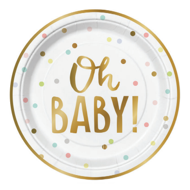 Oh Baby Paper Plates-Palm & Pine Party Co.