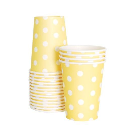 Paper Party Cup (yellow)-Palm & Pine Party Co.