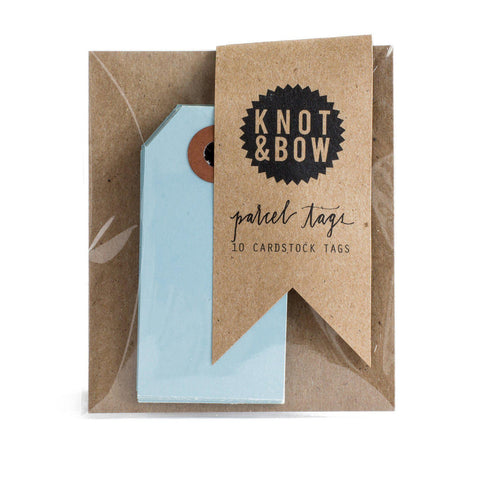 Parcel Tags (light blue)-Palm & Pine Party Co.