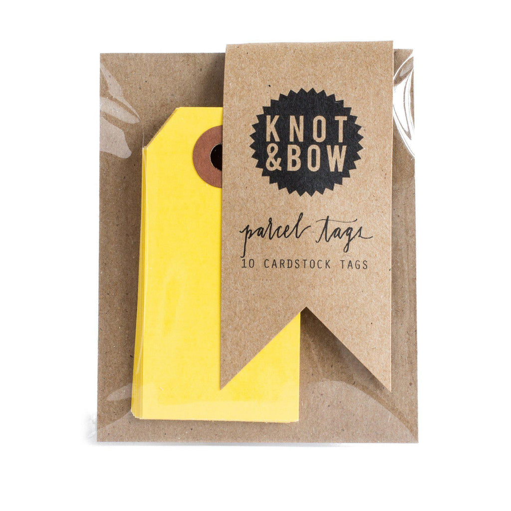 Parcel Tags (yellow)-Palm & Pine Party Co.