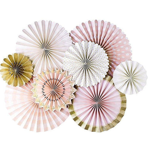 Party Fans (princess pink)-Palm & Pine Party Co.