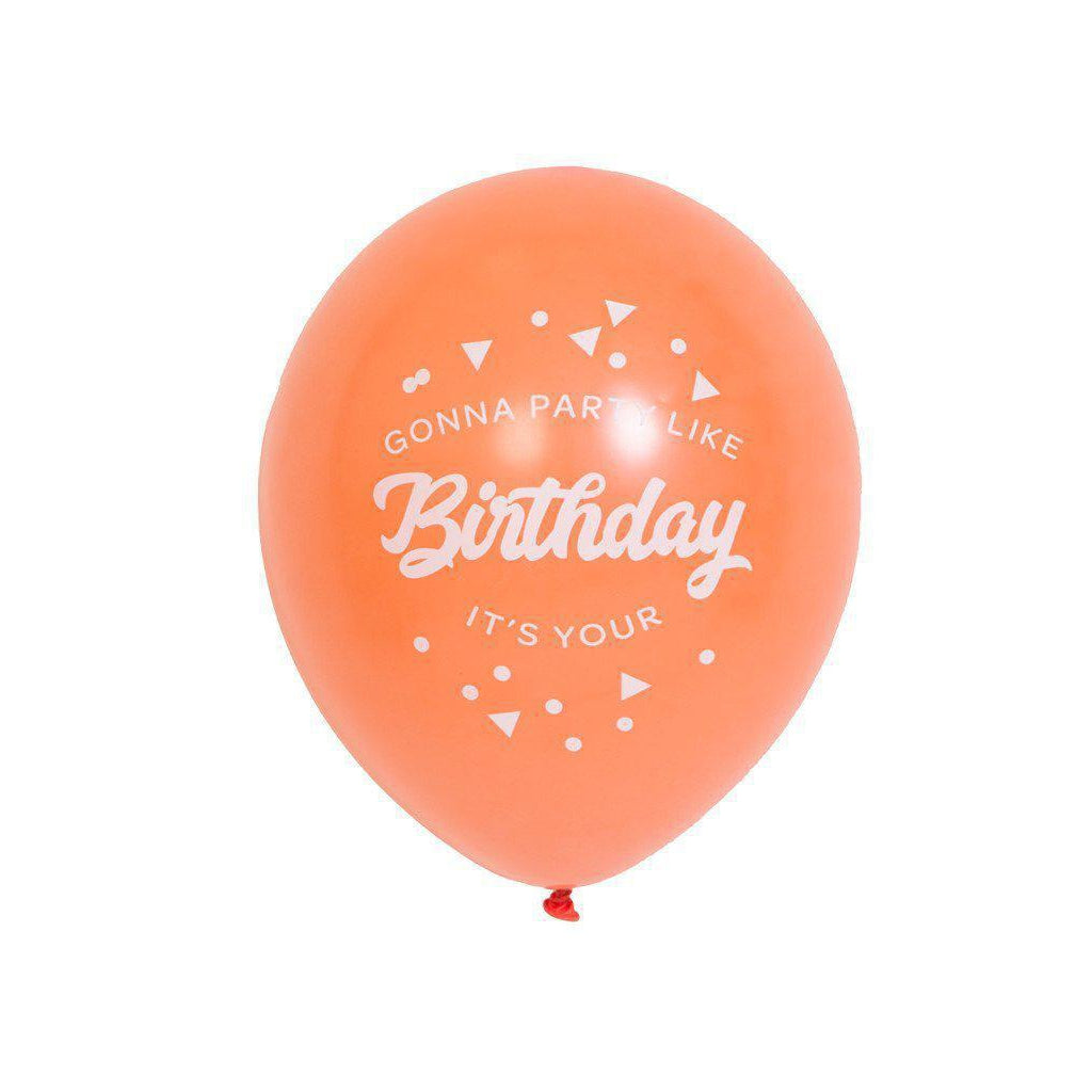 Party Like It's Your Birthday Balloons (coral)-Palm & Pine Party Co.