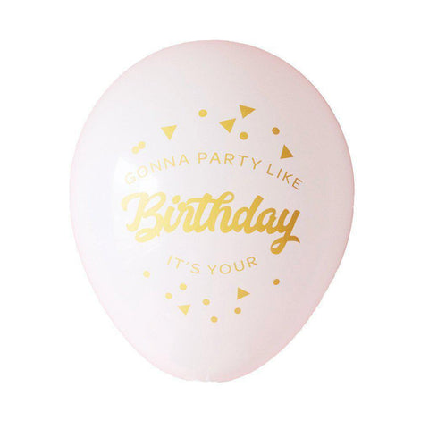 Party Like It's Your Birthday Balloons (white)-Palm & Pine Party Co.