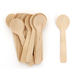 Petite Wooden Cutlery (dessert spoon)-Palm & Pine Party Co.