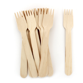 Petite Wooden Cutlery (forks)-Palm & Pine Party Co.