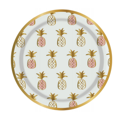 Pineapple Party Plates-Palm & Pine