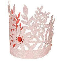 Pink Glitter Crown-Palm & Pine Party Co.