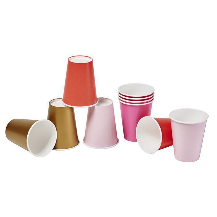 Pink Shimmer Cups-Palm & Pine Party Co.